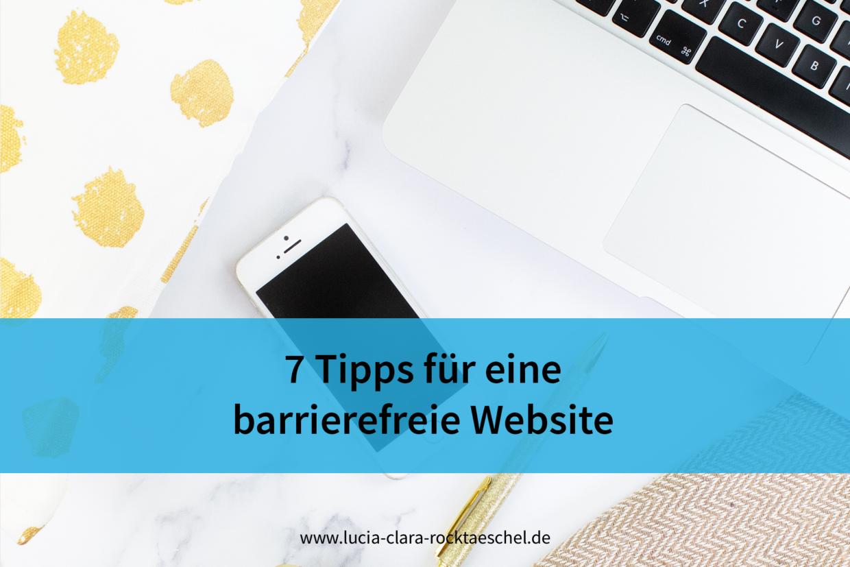 7 Tipps für eine barrierefreie Website