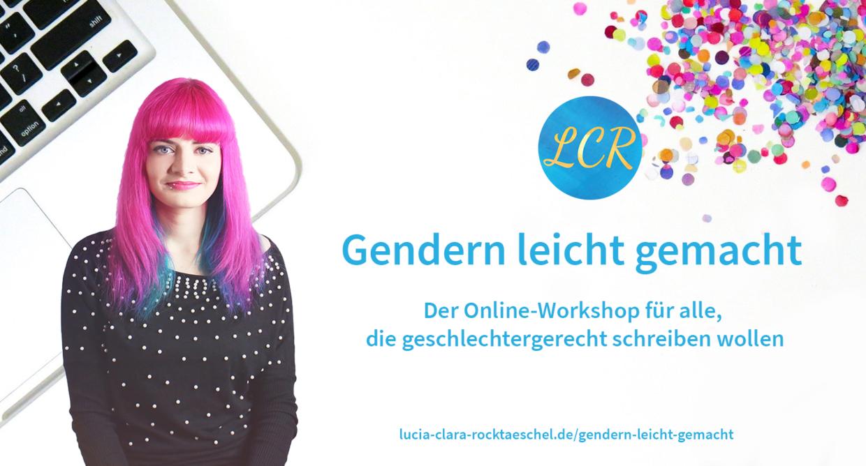 Gendern leicht gemacht: Der Workshop für alle, die geschlechtergerecht schreiben wollen.
