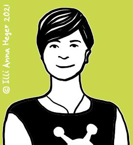 gezeichnetes Porträt von Illi Anna Heger. gezeichnetes Porträt von Illi Anna Heger. © Illi Anna Heger 2021